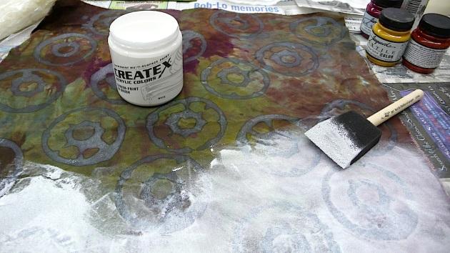 Lynn K painting soy wax