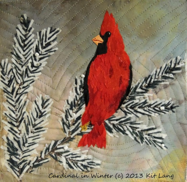 Cardinal In Winter (c) 2013 Kit Lang