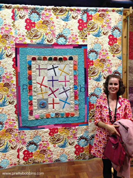 my quilt hanging in show