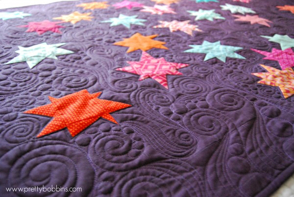 starry skies texture quilting