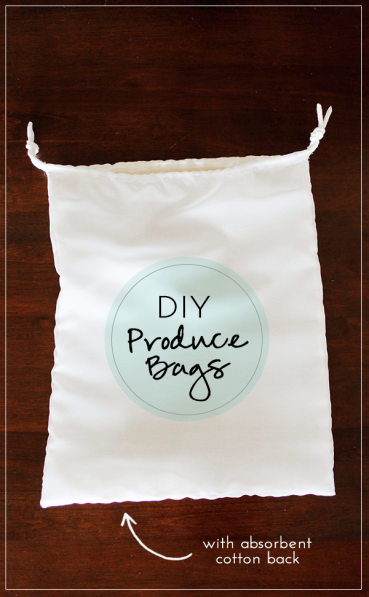 DIY Produce Bags Absorbent Cotton Linen Backing