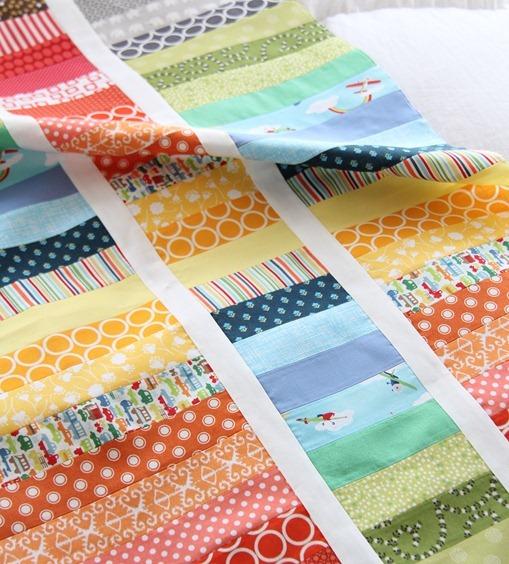 Strip and Flip Rainbow Quilt Tutorial_thumb