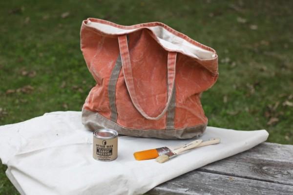 DIY waxed canvas, supplies, Gardenista_0