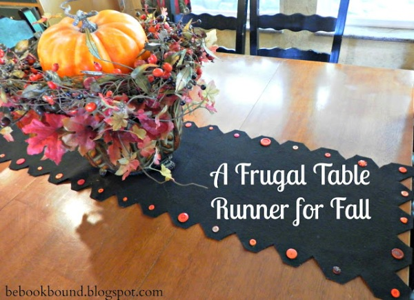 Frugal Table Runner for Fall