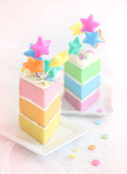 Pastel Layer Cake SprinkleBakes 3