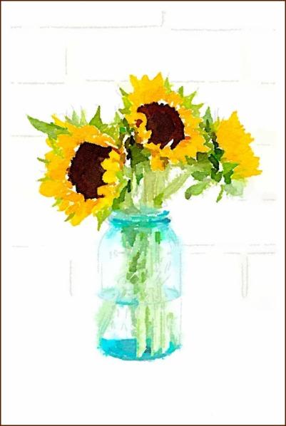 sunflowers-printable