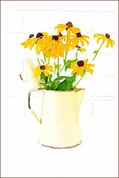 yellow-enamelware-coffee-pot-black-eyed-susans-printable