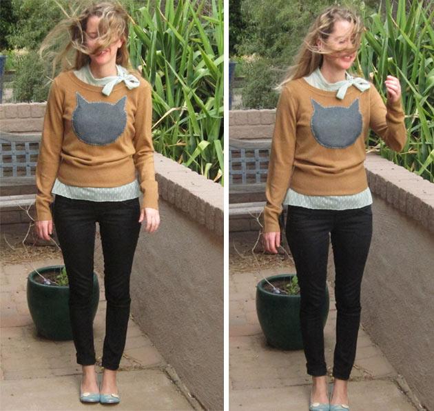 catsweaterDIY