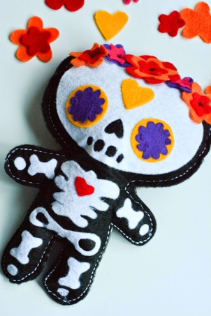 Day of the Dead Doll pattern-3223