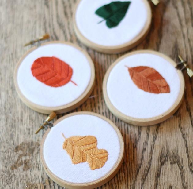 fall-leaves-mini-embroidery-hoops