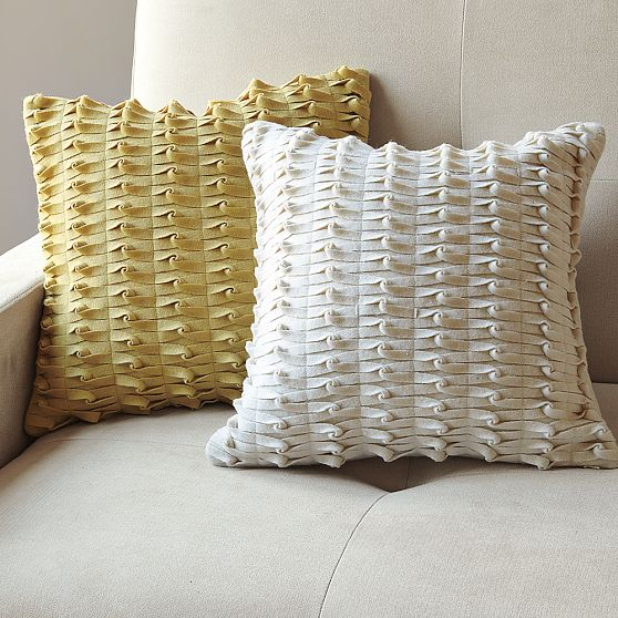 knotted felt pillow west selm