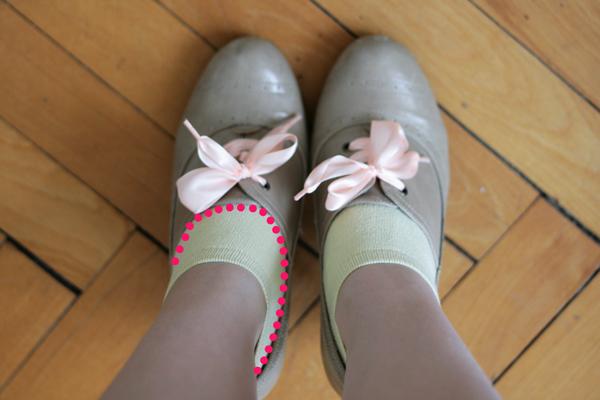 low-cut socks step 1