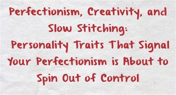 Perfectionism-Creativity