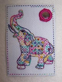 Elephant ATC dollydolledaydreamsblog