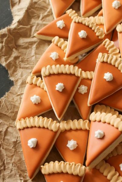 Mini-Pumpkin-Pie-Slice-Cookies
