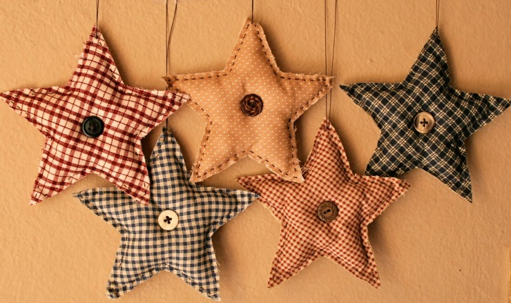 Primitive Star Ornaments