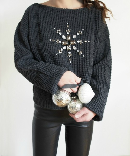 DIY-Mandala-Embellished-Holiday-Sweater-Refashion-854x1024