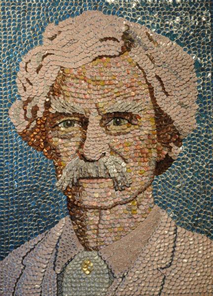 Mark Twain Bottle Cap Portrait