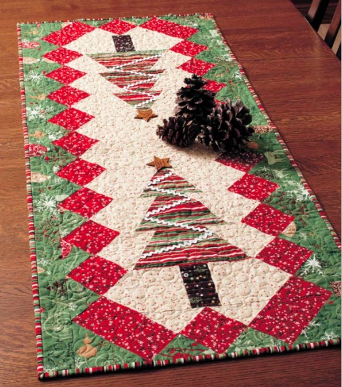 Quilted Table Tinsel Table Runner Diy Mandala Embellished
