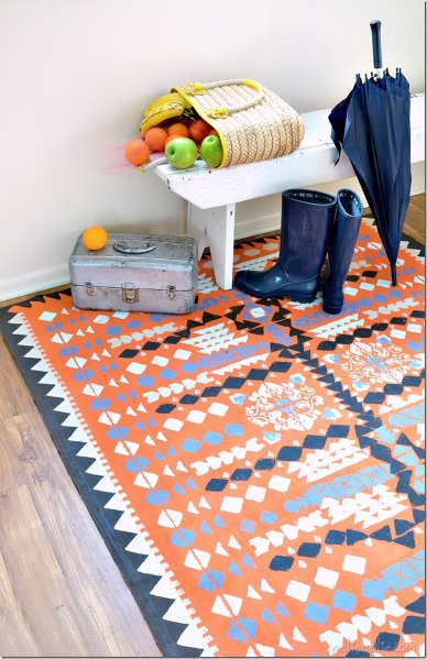 Piece A Vintage Farmhouse Medallion Quilt Make A Rug With