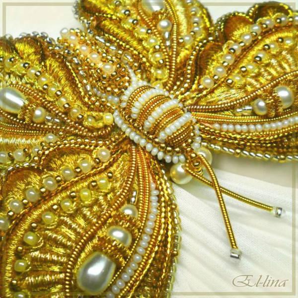 elena emelina bead embroidery butterfly
