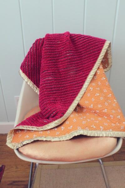 DIY chenille blanket 2