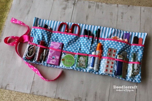 Sew A Roll Up Sewing Kit Create A Patchwork Geometric