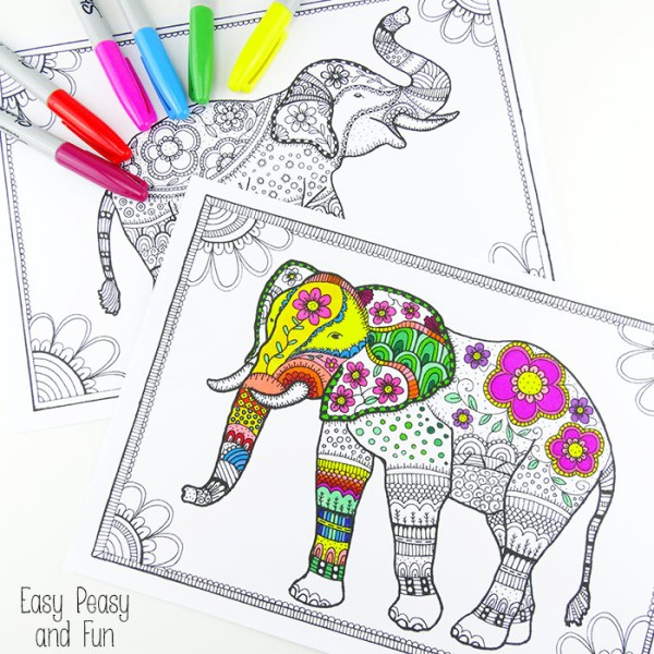Free-Elephant-Coloring-Pages-for-Adults