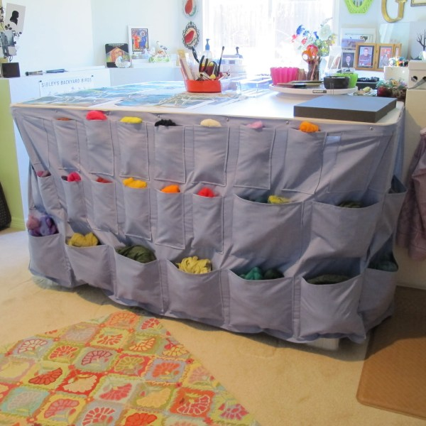 Work table with pocket drape 2