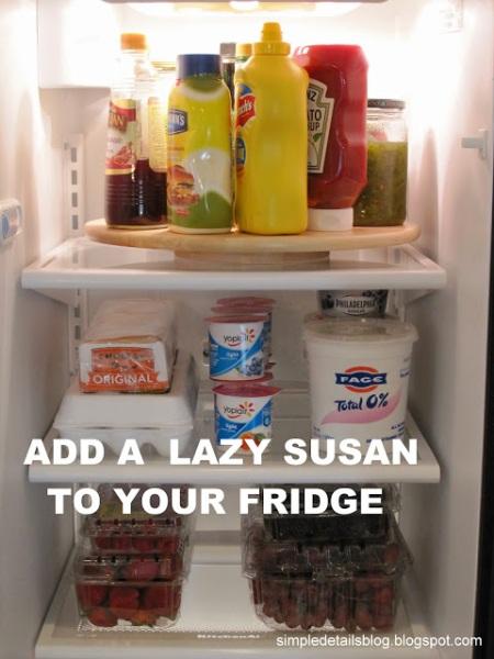 lazy susan in refrigerator