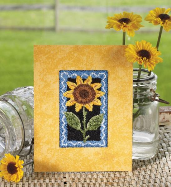 sunflower-punchneedle